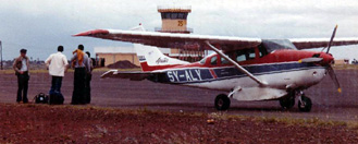 The plane with the bad propellor on Kisumu airport