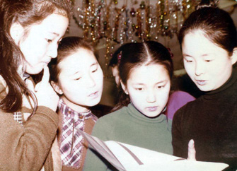 Members of the Korean Childrens Choir at rehearsal