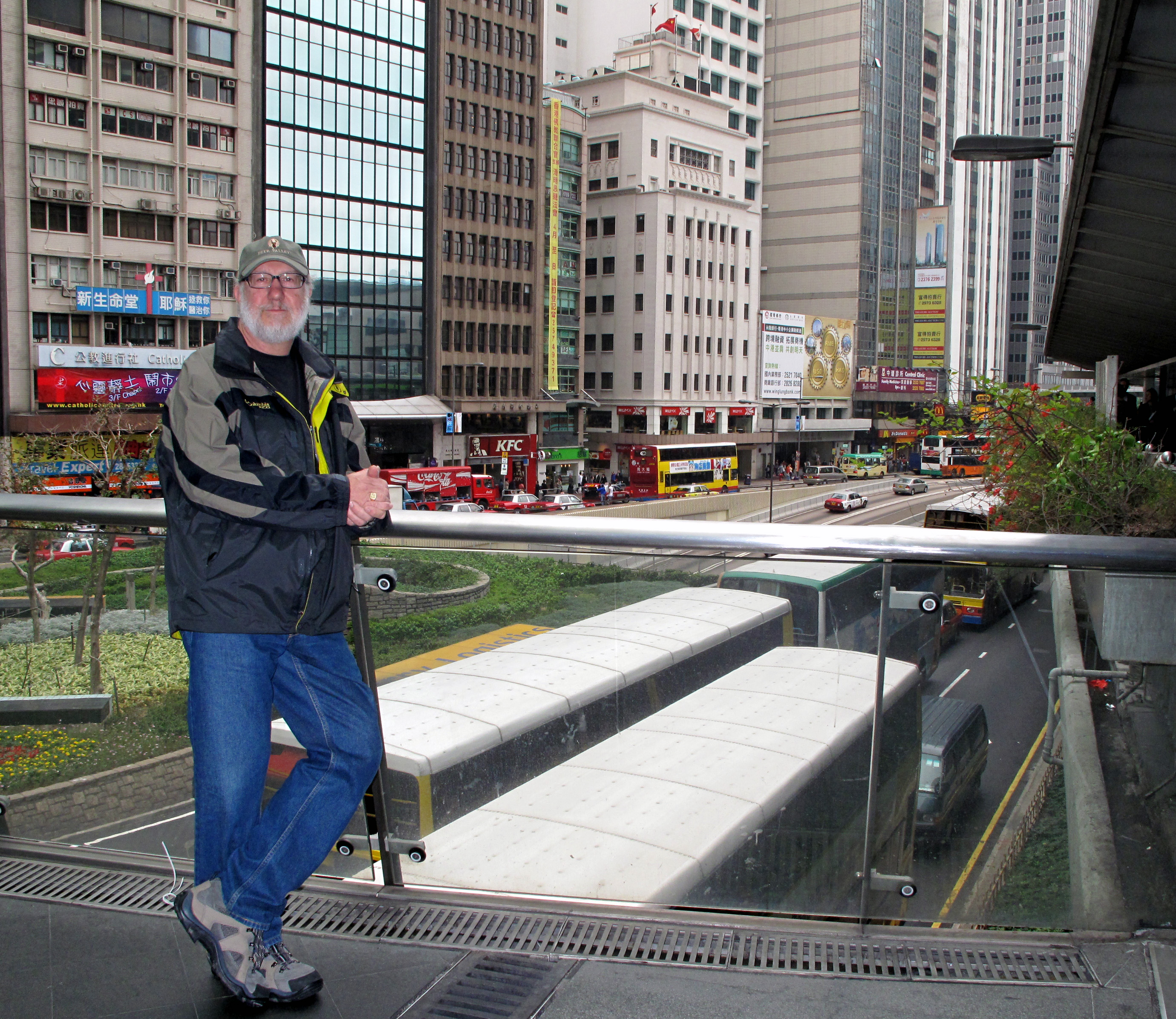 Judy's pic of me in Hong Kong